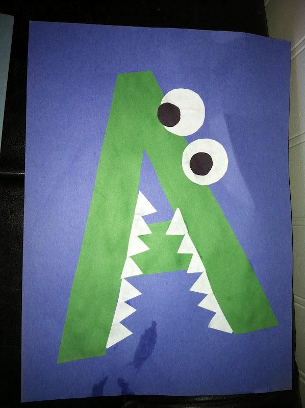 Miss maren 39 s monkeys preschool alligator template for Letter k crafts for toddlers
