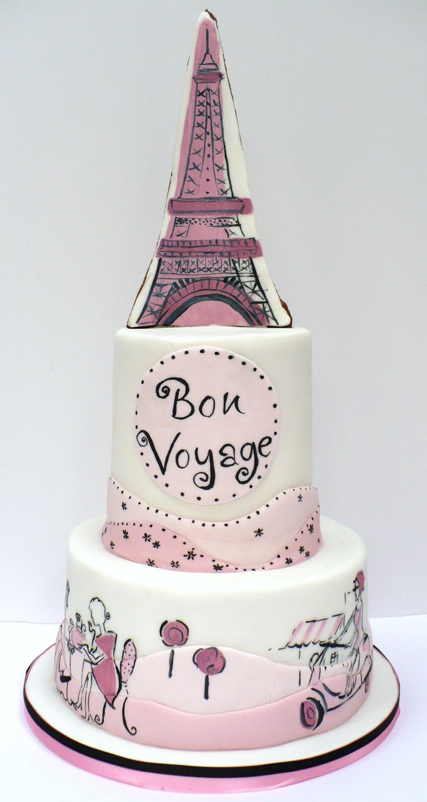 Night in Paris Theme Birthday http://alyssafalkner.blogspot.com/2011/04/its-girl-cake.html