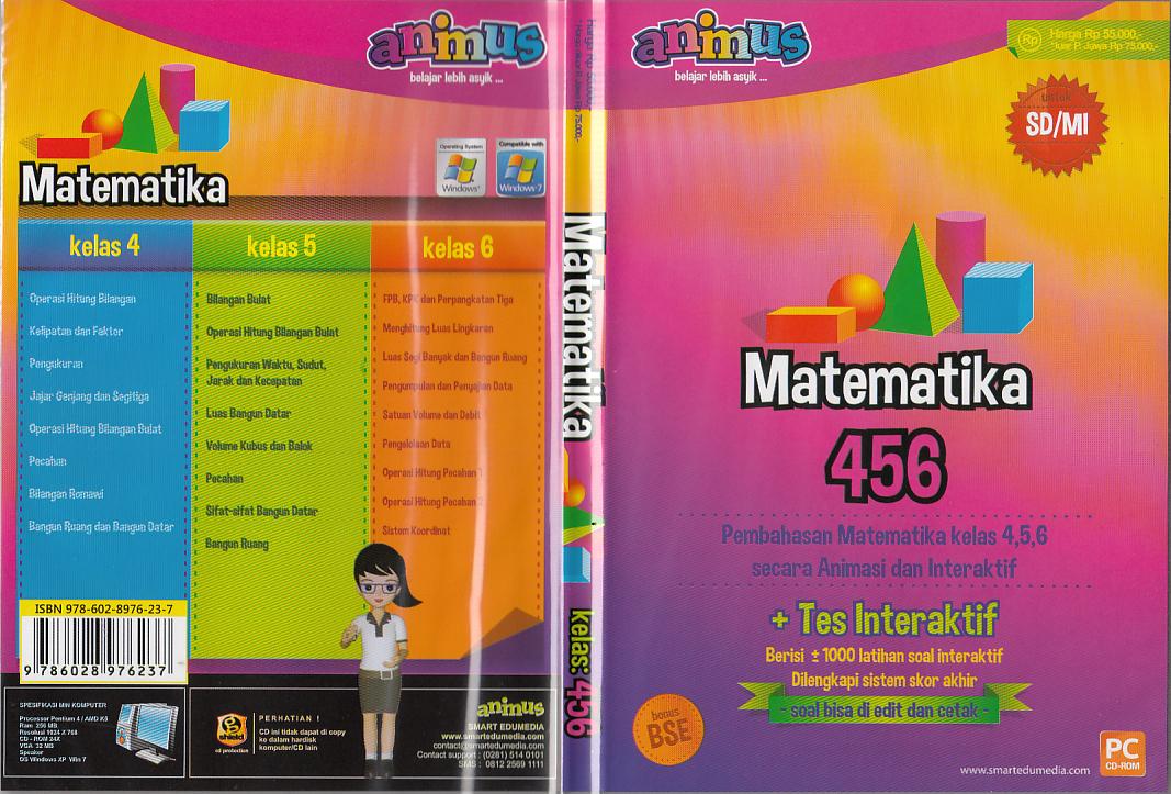 TOKO BUKU RAHMA: CD ANIMUS MATEMATIKA KELAS 4, 5, 6 SD\/ MI