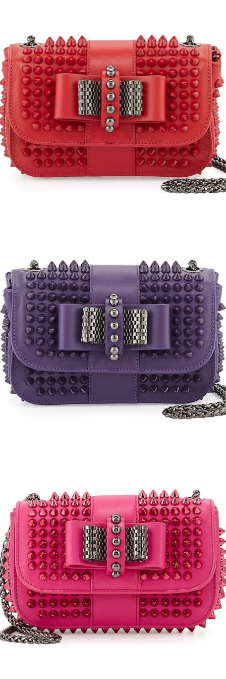 Christian Louboutin Sweet Charity Small Spiked Crossbody Bags