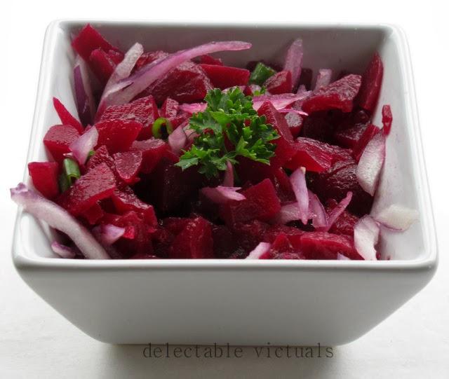 ethiopian beet salad yeqey sir qiqqil