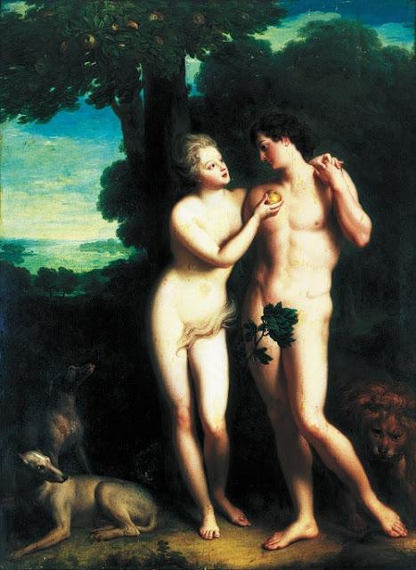 Adam et Eve avaient-ils un nombril? L'omphalisme Adam_et_eve_philippe_d_orleans_et_madeleine_de_la_vieuville+-+Copie