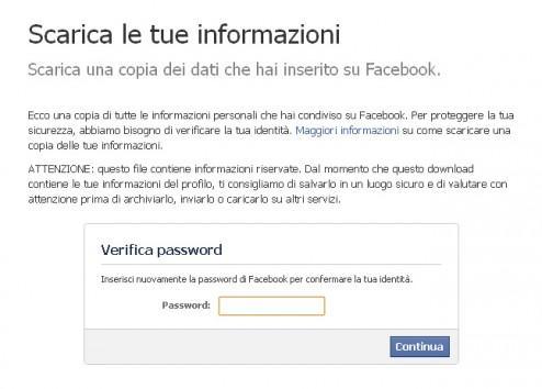 Archivio Facebook