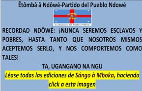 Click en la imagen y léase todas las ediciones de Sángo à Mboka