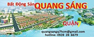 BÁN NHÀ QUẬN 7 BẤT ĐỘNG SẢN QUANG SÁNG : www.bannhaquan7.com.vn / hotline: 0938145234 / 0933387799