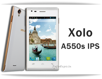 Xolo A550S IPS: 4-inch 3G Android Smartphone Specs and Price