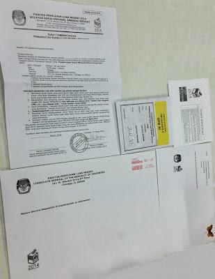 Photo pengiriman Surat Suara DPR di PPLN Chicago