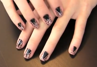 leopard style nails art
