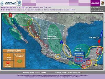 Sondermeldung Wetter Süd-Mexiko 4. Oktober 2011, Veracruz, Mexiko, Yucatán, Cancún, Playa del Carmen, aktuell, Wettervorhersage Wetter, Chiapas, Yucatán, Oaxaca, Tabasco, Oktober, 2011,