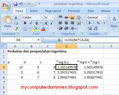 logarithm multiplication