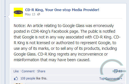 Geeky Juan - CD-R King hoax post