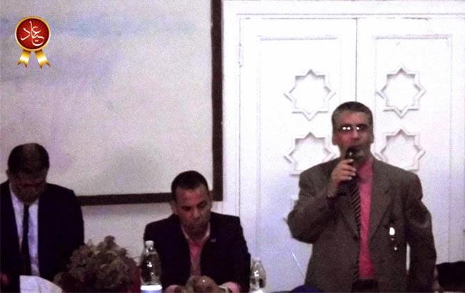 الاستاذ احمد درويش في كلمته إلى المعلمين خلال اللقاء