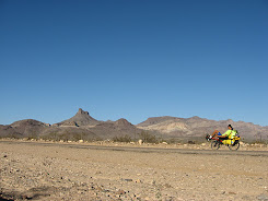 Riding across the Mojave Desert