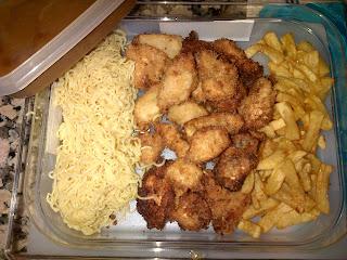 Pollo con cítricos y frutos rojos fritos con PANKO