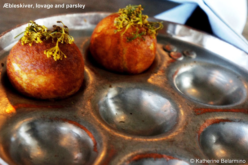 Æbleskiver, lovage and parsley noma Copenhagen Denmark