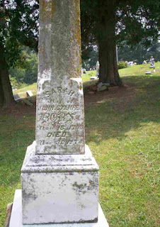 Grave of Sarah Stamper in Carter County, Kentucky