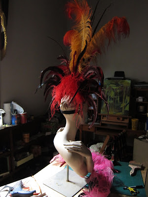 Fire  burlesque headpieace