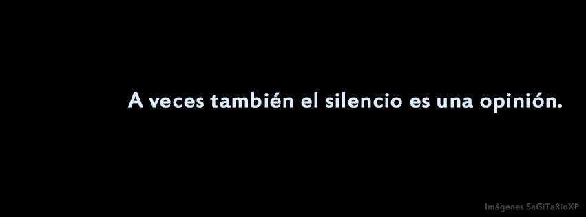 Portada para facebook | El silencio es una opinión