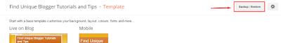 Uploading XML Template for Blogger
