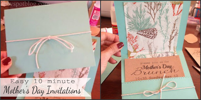 Easy DIY Invitations for Mother's Day Brunch, bridal shower or dinner party.
