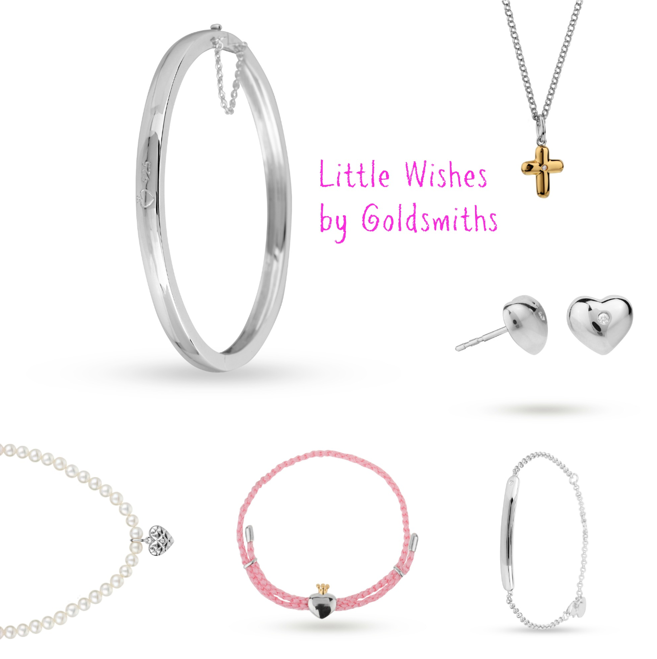 mamasVIb | V. I. BRAND: The new Little Wishes by Goldsmiths jewellery collection for little girls, The new Little Wishes jewellery collection for little girls | goldsmiths | little wishes | jewellery for little gils | new jewellery for children | first birthday gift ideas | sterling silver jewellery | bridesmaid gift ideas | easter gifts | charm bracelet | necklace | earrings | girly gifts | pink packaging | mamasVIb | miss Marnie | bonita Turner | now magazine | stylist | blog | mummy blogger | goldsmiths jewellery