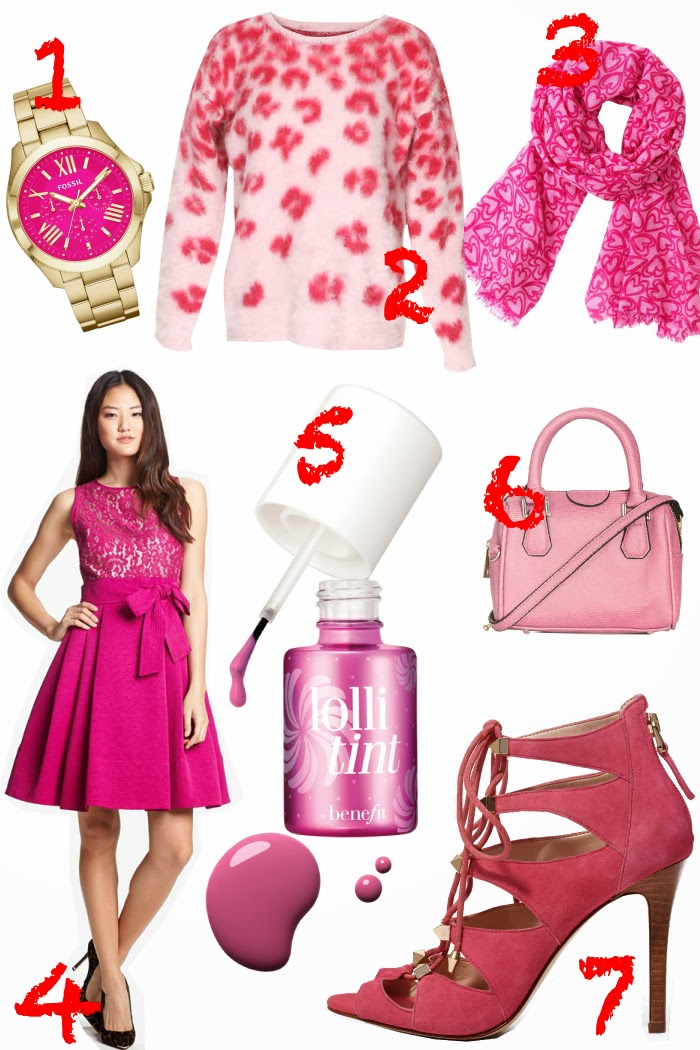 Valentines-Day, Gift-Guide, Pink, Colour, Red, Watch, Bag, Dress, Scarf, Sweater, Pumps