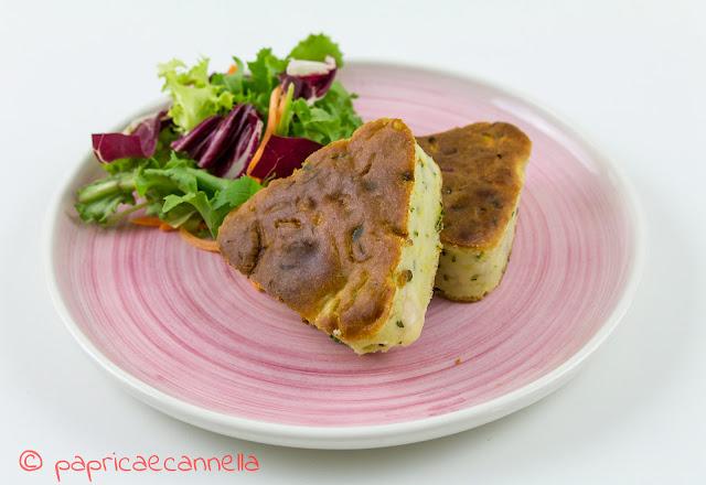 torta salata con farina di kamut, zucchine e formaggio