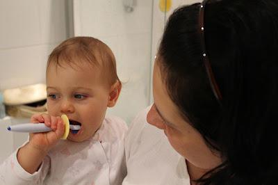 Test szczoteczki do zębów dla niemowląt