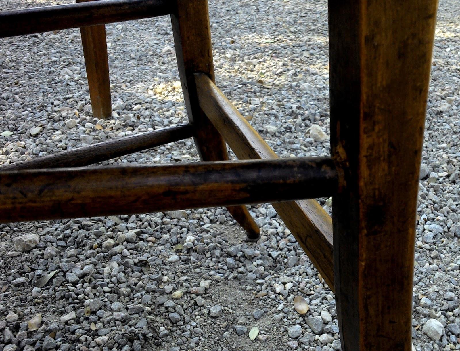 Ancien bureau rustique poignee porcelaine chaise ronce de for Bureau ancien