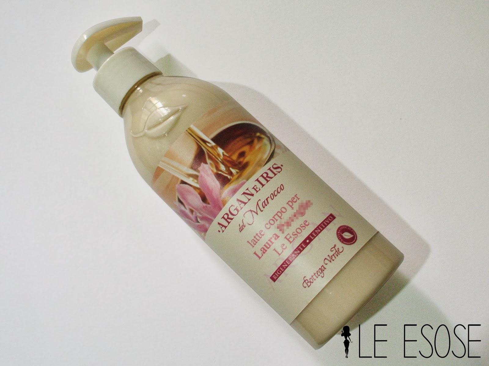 Bottega Verde, latte corpo Argan e Iris del Marocco recensione