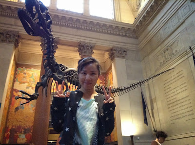 photo: Jin Feng, an NYLC student, at the American Museum of Natural History in Manhattan