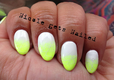 Neon Yellow and White Gradient