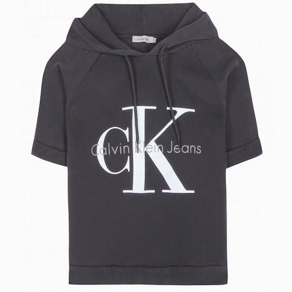 Calvin Klein Cropped cotton hoodie