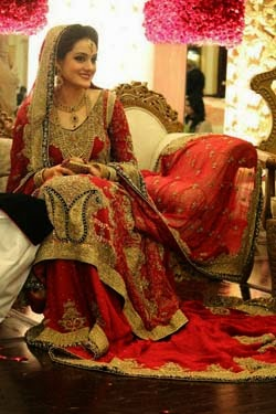 new red color bridal lehnga design