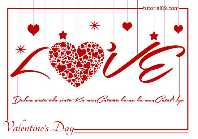 "koleksi kartu ucapan ""valentine's day"" terbaru"