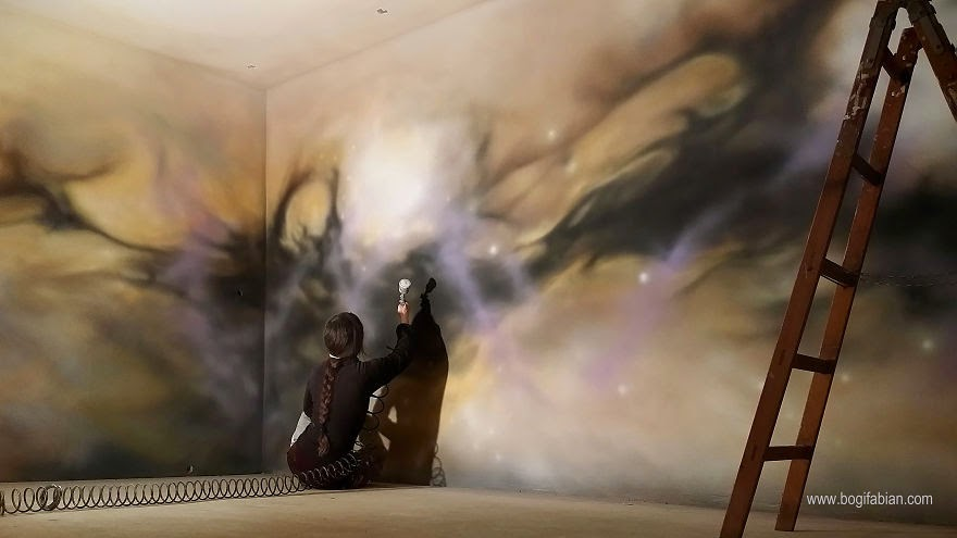 Allow the universe to become a part of your daily life… - When The Lights Go Out, My Glowing Murals Turn These Rooms Into Dreamy Worlds