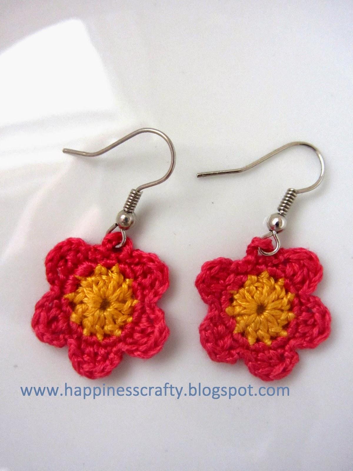 Crochet Flower Earrings ~ Free Pattern CROCHET AND ART ...