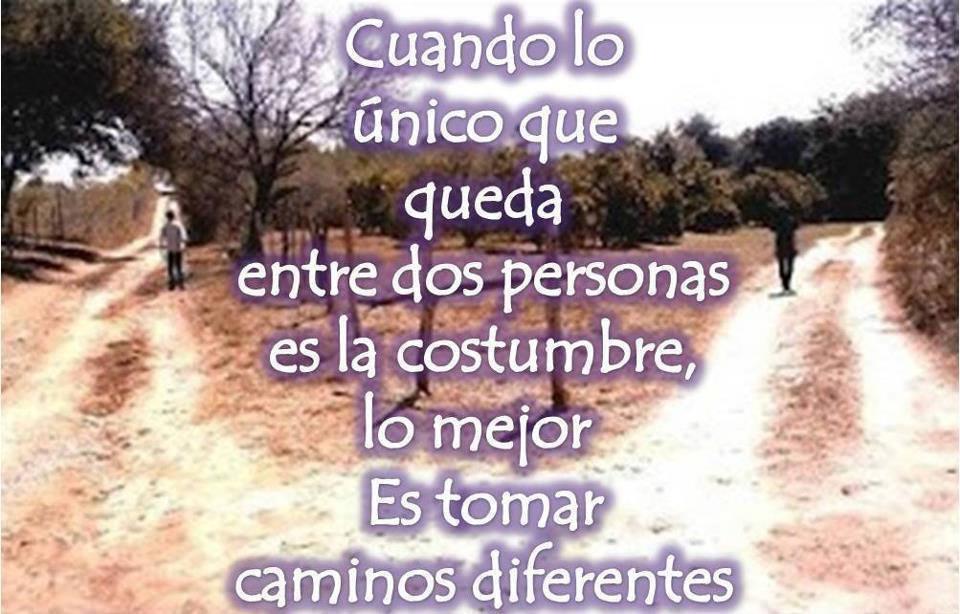 desamor caminos diferentes
