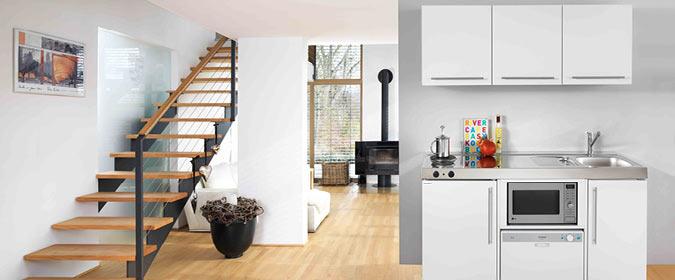 Mini cocinas compactas para peque os espacios cocinas for Modelos de cocinas en espacios pequenos