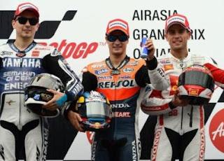MOTO GP-Triplete español con Pedrosa en cabeza