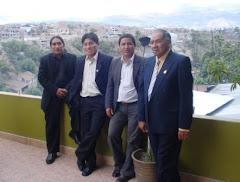 Ing.Richard (Ayacucho) Prof. Antoni Sulca (Danzas de Moquegua) Prof. Yaico (Ica)