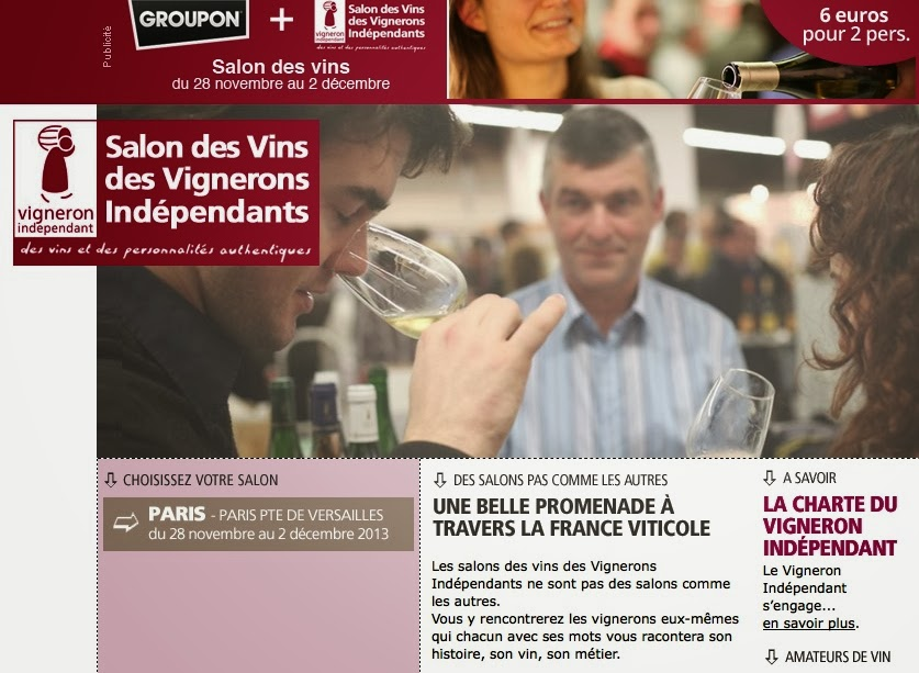 Jim 39 s loire salon des vins des vignerons ind pendants for Salon vin paris