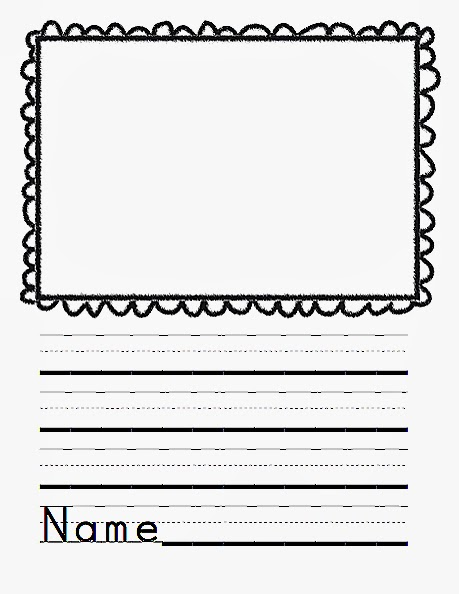 Journal writing paper for kindergarten