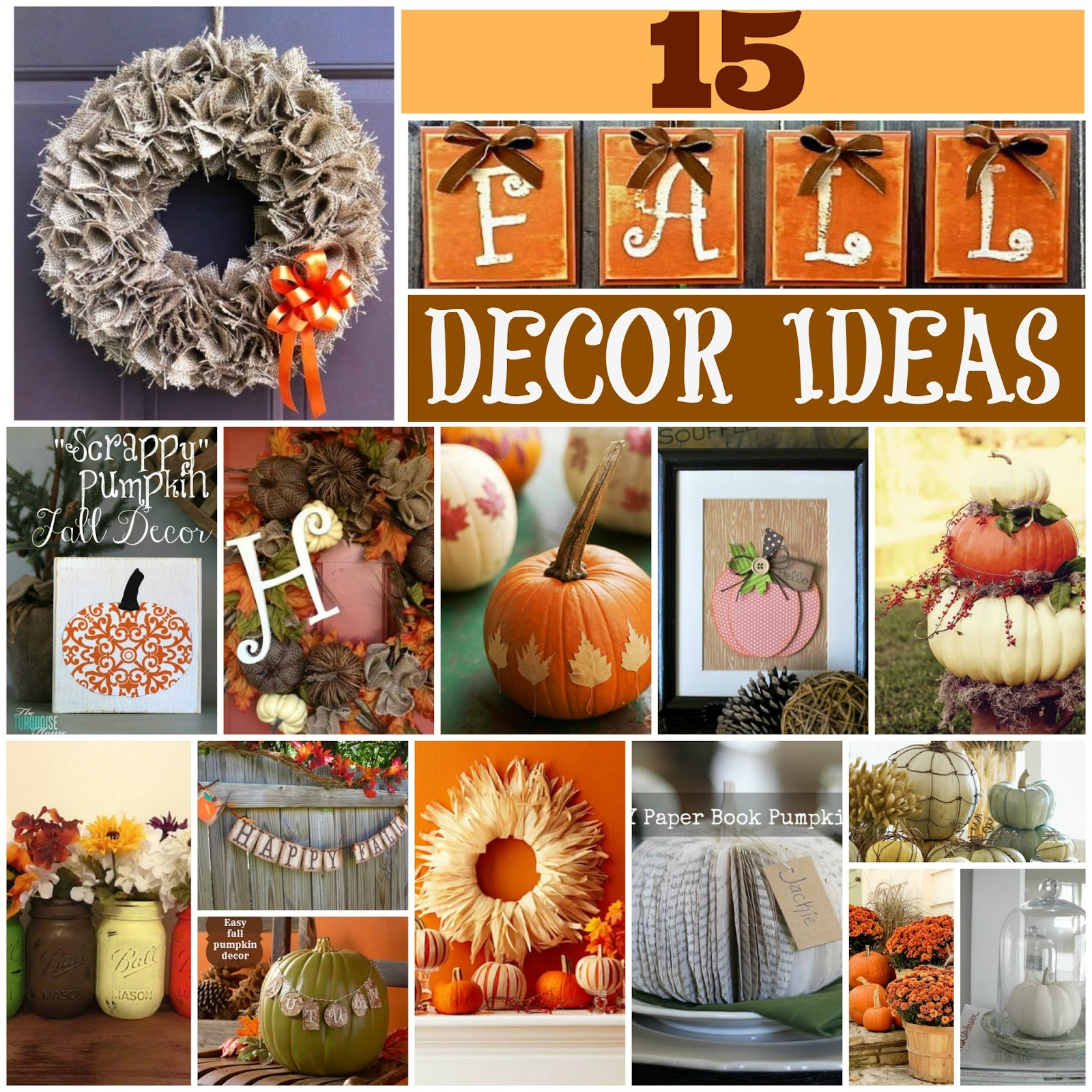 15 fall decor ideas place of my taste