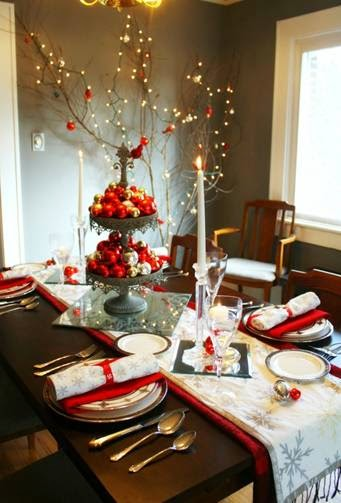 Dicas de decoração vermelha para mesa de Natal
