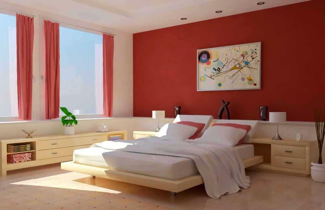 Kombinasi Cat Interior Tempat Tidur Rumah Minimalis