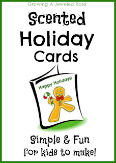 DIY holiday cards - scented