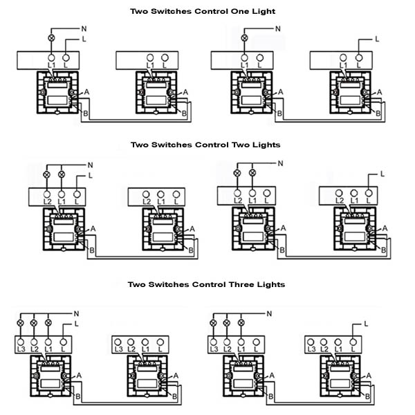 4 Gang 1 Way Switch Wiring Diagram - Somurich.com