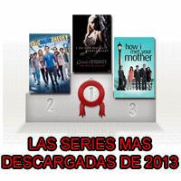 Las series más descargadas de 2013