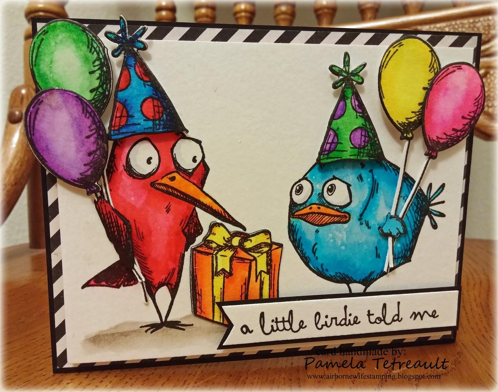 Tim Holtz Crazy Birds Card For A Friend